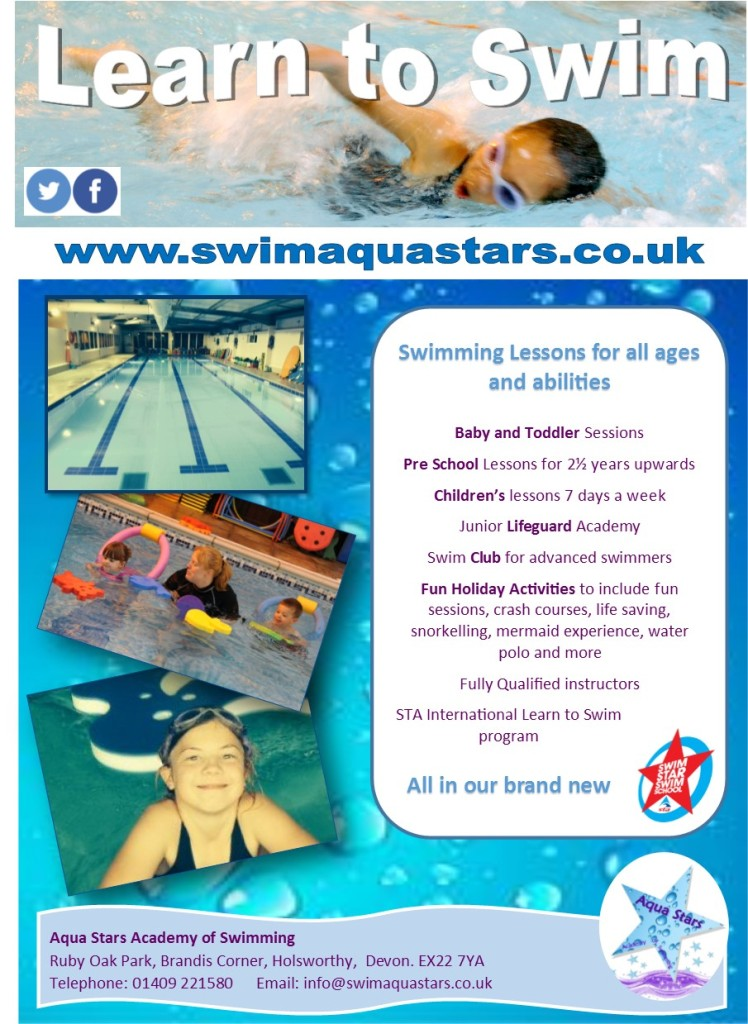 Aqua Stars Newsletter Advert